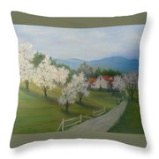 A Day In The Country Throw Pillow by Ben Kiger