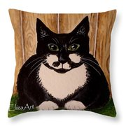 A Day In The Yard Throw Pillow