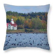 A Day In Wallace Throw Pillow