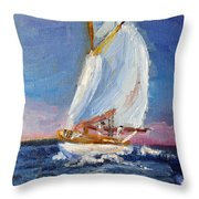 A Day On A Boat Is..... Throw Pillow