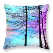 A Day With Dancing Lights Throw Pillow