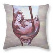 A Day Without Wine - Merlot Throw Pillow