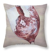 A Day Without Wine - Shiraz Throw Pillow
