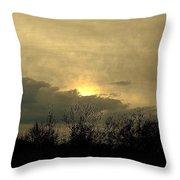 A  December Sunset 2 Throw Pillow