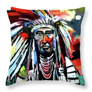 A Decorated Chief 1 Throw Pillow