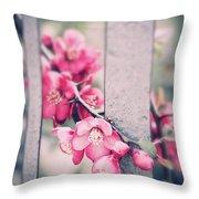 A Delicate Spring Throw Pillow