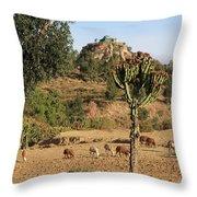 A Biblical Landscape Throw Pillow