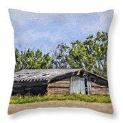 A Deserted Farm Throw Pillow