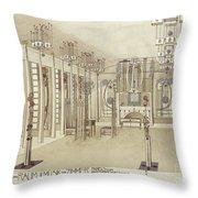 A Design For A Music Room Throw Pillow