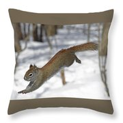 A Devil Named American Red Squirrel Throw Pillow