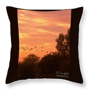 A Different Approach To Sunset Throw Pillow