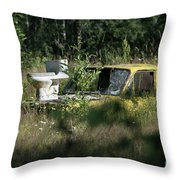 A Different Dump Truck Throw Pillow
