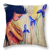 A Different Kind Of Blue Throw Pillow