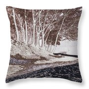 A Different World #1. Groove Of Trees Throw Pillow