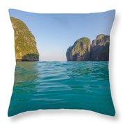 A Dip In Maya Throw Pillow