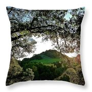 A Distant Cross Throw Pillow