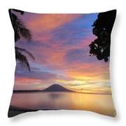 A Distant Island Throw Pillow