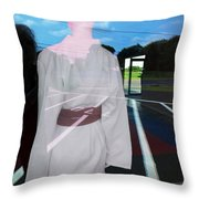 A Distant Place Throw Pillow