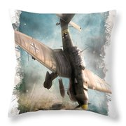 A Dive In Hell Throw Pillow