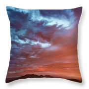 A Divided Sky At Sunset Throw Pillow