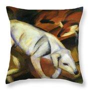 A Dog 1912 Throw Pillow