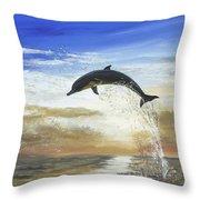 A Dolphin's Life Throw Pillow