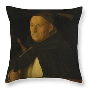A Dominican With The Attributes Of Saint Peter Martyr Throw Pillow