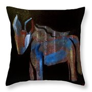 A Donkey Named Frog Throw Pillow