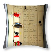A Door About Family Throw Pillow