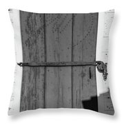 A Door With Character Throw Pillow