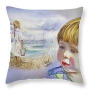 A Dream Of An Ocean Throw Pillow