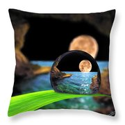 A Drop In The Ocean Throw Pillow