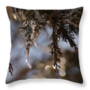 A Drop Of Ice Throw Pillow