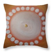 A Drop Of Life Mandala Throw Pillow
