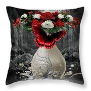 A Drop Of Nature Throw Pillow