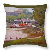 A Duck's View Throw Pillow