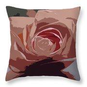 A Dusty Rose-d Throw Pillow