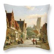 A Dutch Street In Summer Throw Pillow