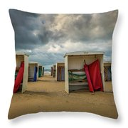 A Dutch Summer At The Beach Throw Pillow