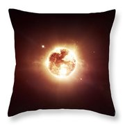 A Dying Star Which Will Soon Give New Throw Pillow by Tomasz Dabrowski