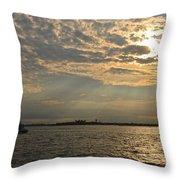 A Evening With Hudson River Throw Pillow
