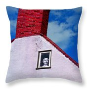 A Face At The Window Throw Pillow