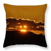 A Face In The Sunrise  Throw Pillow