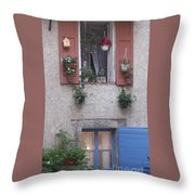 A Face In The Window Throw Pillow