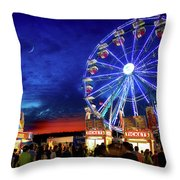 A Fair Moon Throw Pillow