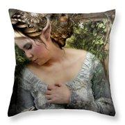 A Fairy's  Friend Throw Pillow