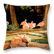 A Family Gathering Throw Pillow