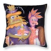 A Family Of New Friends Throw Pillow