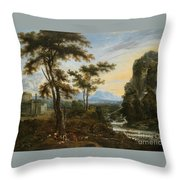 A Fantastic Countryside Around Rome Throw Pillow