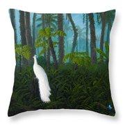 A Fantasy In White Throw Pillow